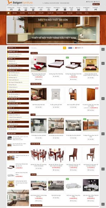 Mẫu web bán hàng nội thất chuyên nghiệp Saigon