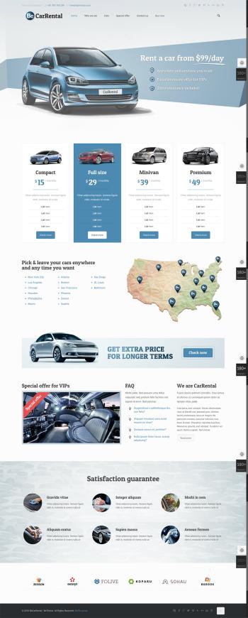 Thiết kế web thuê xe chuyên nghiệp