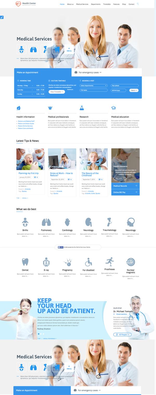 Thiết kế web phòng khám, bệnh viện