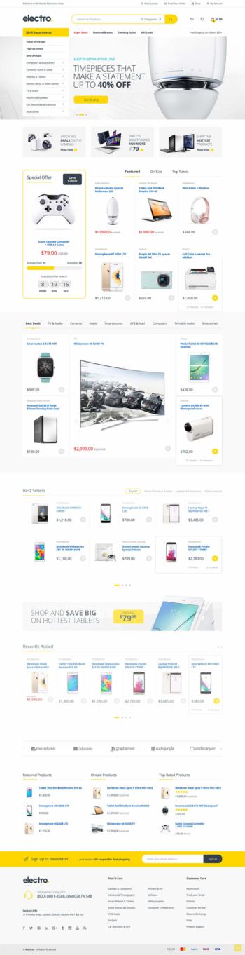 Thiết kế web bán hàng điện tử Electro