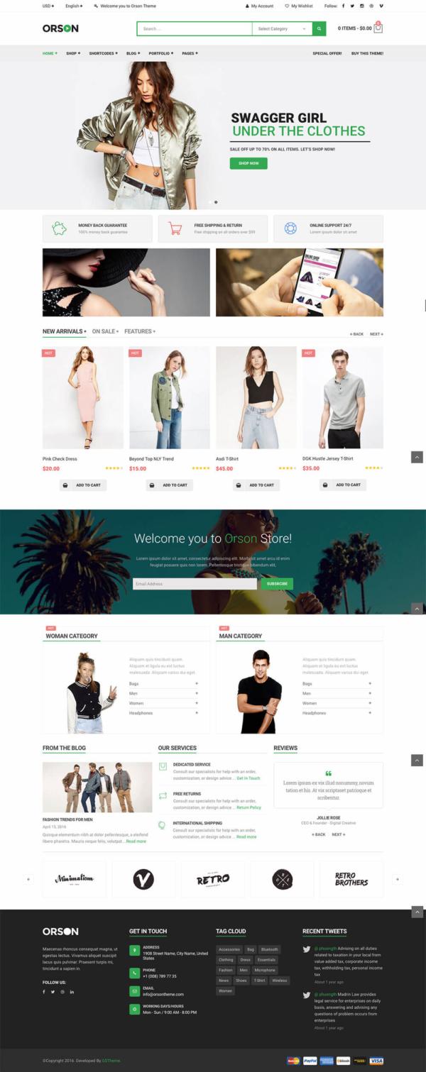 Thiết kế web bán hàng thời trang Orson