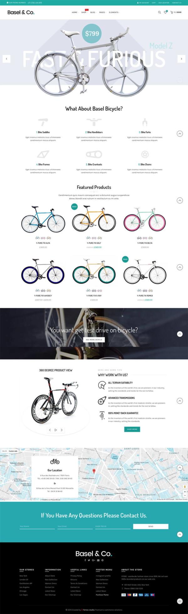 Mẫu web xe đạp Basel