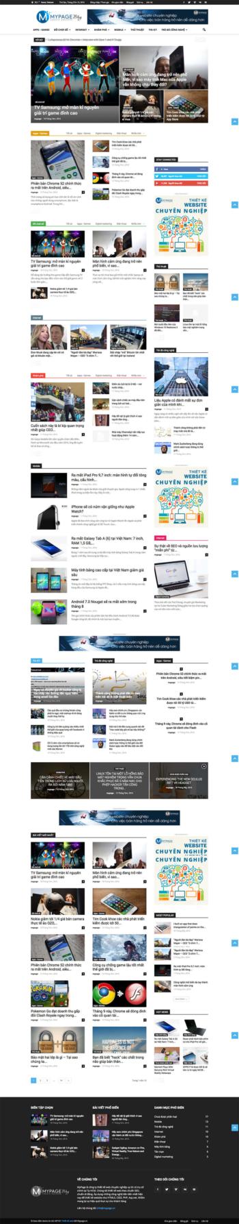 Thiết kế web tin tức Blog MP