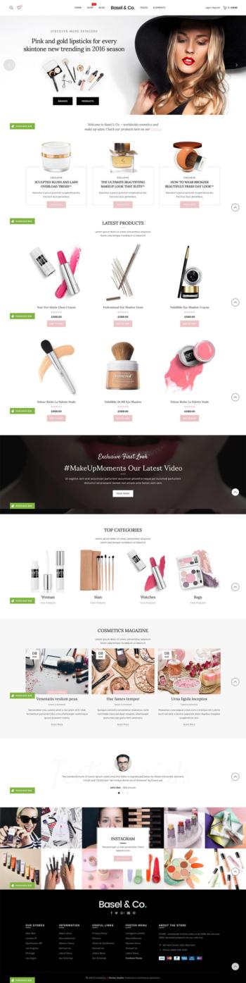 Thiết kế web bán hàng Mỹ Phẩm Basel