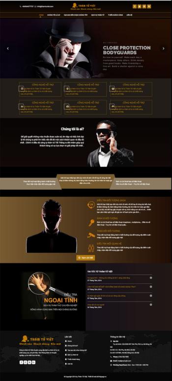 Thiết kế web dịch vụ bảo vệ, thám tử Việt