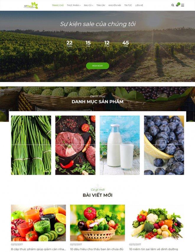 thiết kế web nông sản