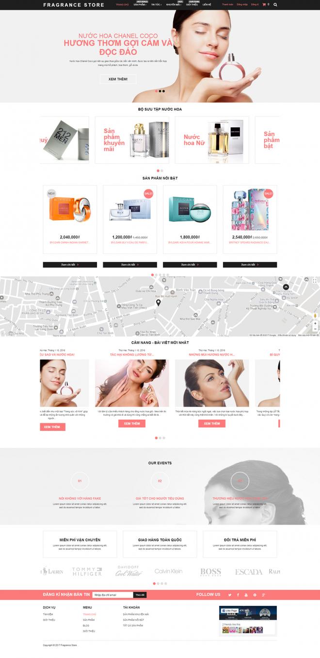 thiết kế web nước hoa