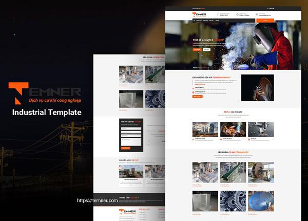 thiết kế web cơ khí