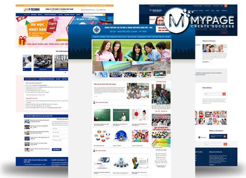 Mẫu web dạy học online trực tuyến