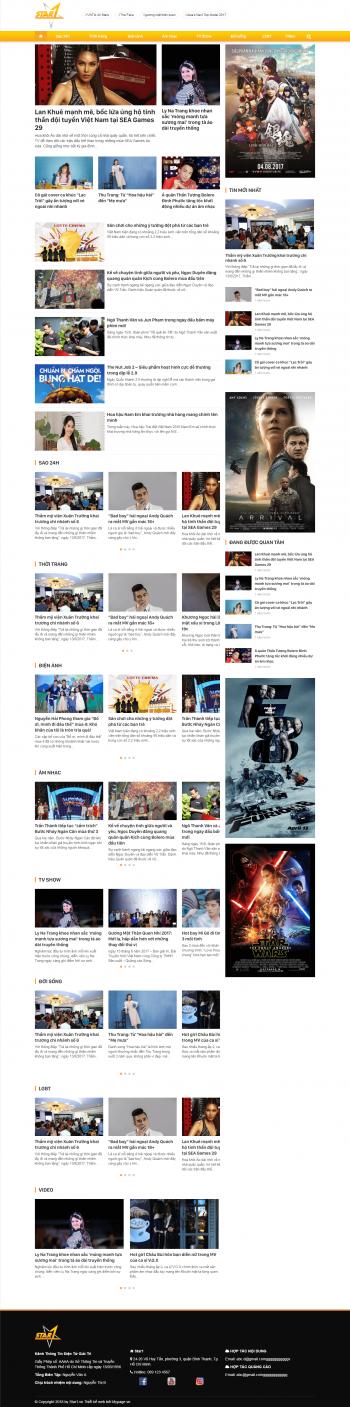Mẫu website tin tức Star1
