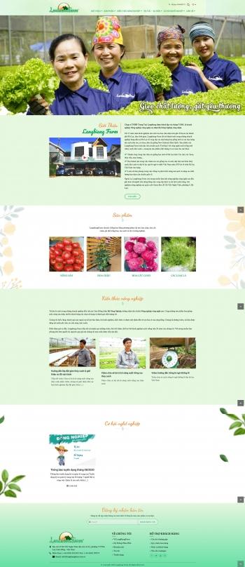 Mẫu giao diện website giới thiệu Langbiang Farm