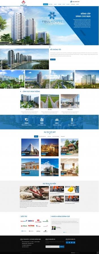 Mẫu website bất động sản Trường Thịnh – Mypage