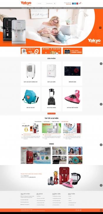 Mẫu giao điện website bán hàng Yakyo