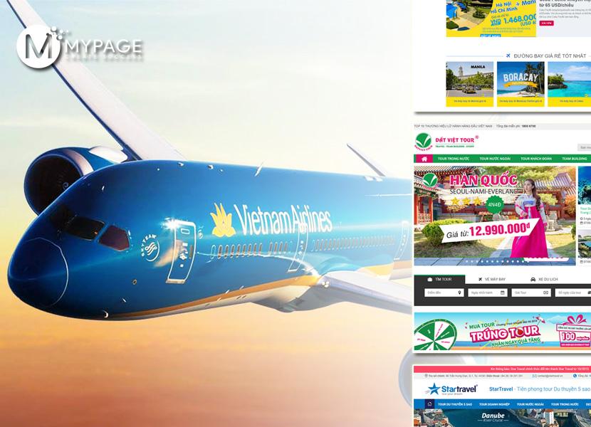 Template một số trang web bán vé máy bay đẹp