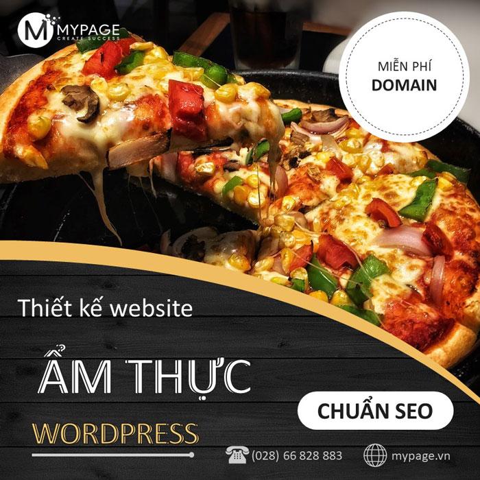 Thiết kế web ẩm thực bằng wordpress