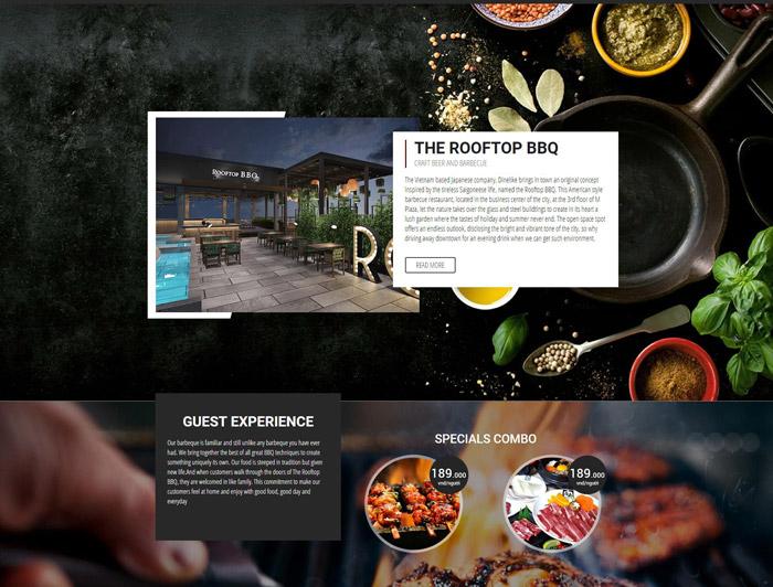 Thiết kế web ẩm thực