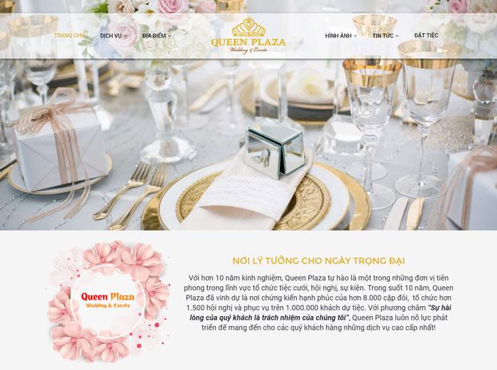Website nhà hàng tiệc cưới