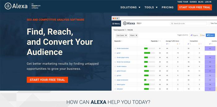 Alexa Traffic Rank công cụ đo tốc độ Web