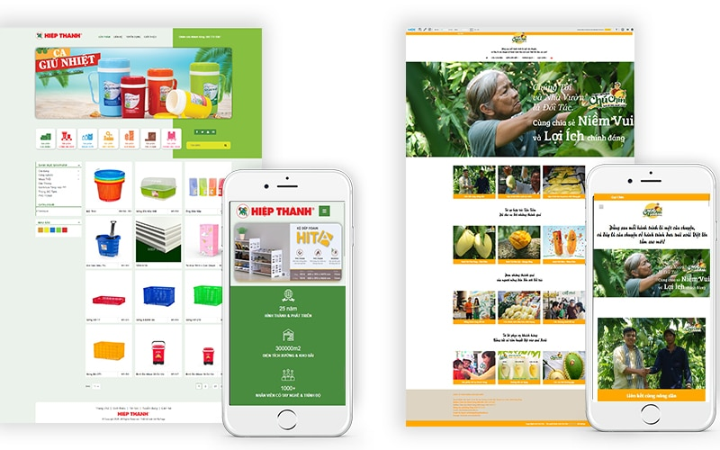 Mẫu thiết kế web giới thiệu sản phẩm