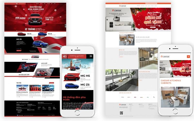 Mẫu website giới thiệu sản phẩm
