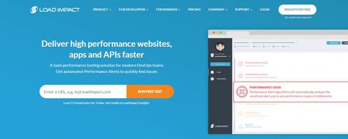 Loadimpact công cụ đo tốc đọ Web